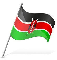 Flag of kenya vector