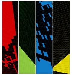 Abstract vertical banner vector