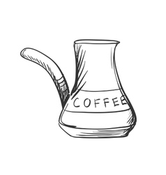 Doodle turk to brew coffee vector