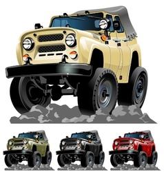 Cartoon jeep one click repaint vector