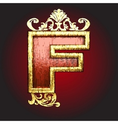 Gold and red wood figure vector