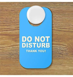 Do not disturb blue sign vector