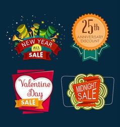 Various sale event tittle vector