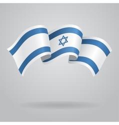 Israeli waving flag vector