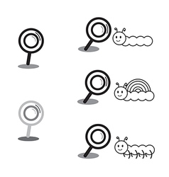 Black magnifying glass vector