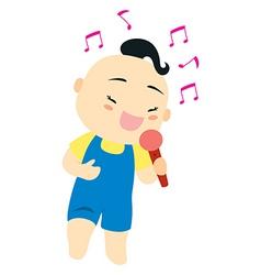 Karaoke singer vector