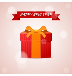 Happy new year abstract gift vector