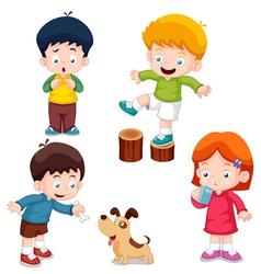 Characters kids vector