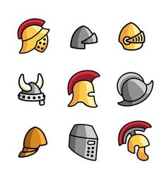 Old helmets vector