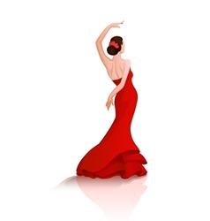 Flamenco dance vector