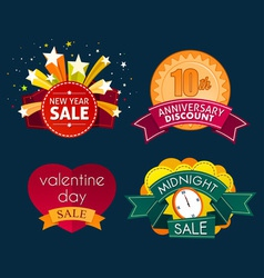 Various sale event tittle vector