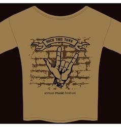 Music tee shirt template vector