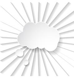 White paper speech bubble vector