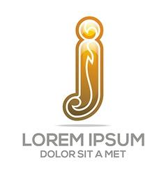 Logo letter j i element icon vector
