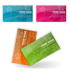 Collect business cards vector