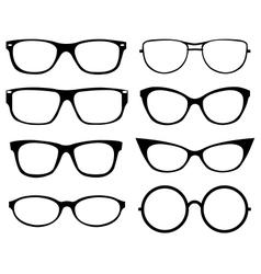 Set of eyeglasses vector