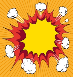 Boom comic book explosion element vector
