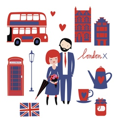 Romantic of london vector