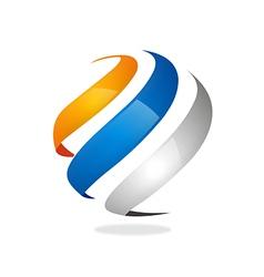 Swirl sphere abstract communication logo vector