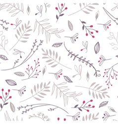Floral seamless pattern brown colors vector