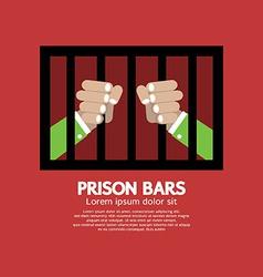 Prison bars graphic vector