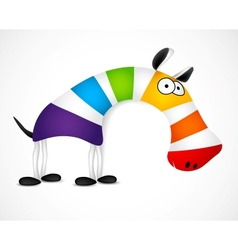 Colored striped zebra vector