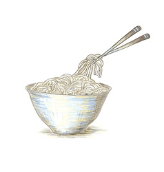 Hand drawn ramen vector