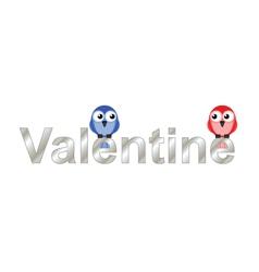 Valentine lovers vector