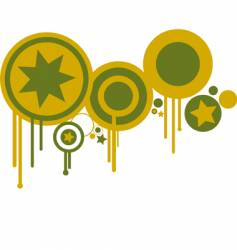 Circles in green and yellow vector
