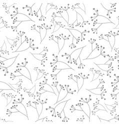 Gray floral seamless pattern vector