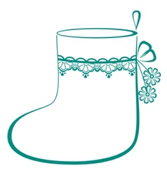 Stocking with flowers vector