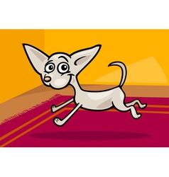 Running chihuahua cartoon vector