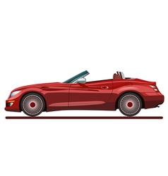 Red beautiful sport car vector