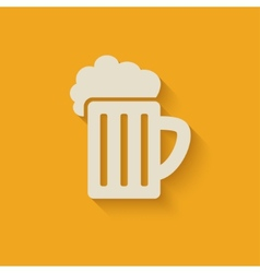Beer mug design element vector