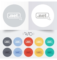 Domain net sign icon top-level internet domain vector