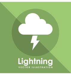 Lightning icon design vector