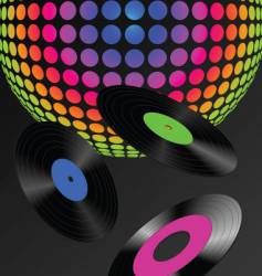 Dj records background vector