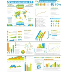 Infographic demographics population special vector