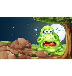 A monster crying near the rocks vector
