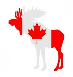 Moose in flag of canada vector