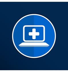 Medical care design over blue background vector