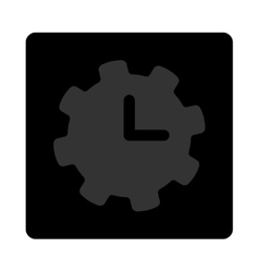 Time settings icon vector
