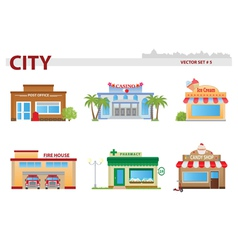 Public building set 5 vector