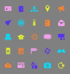 Contact connection color icons on gray background vector