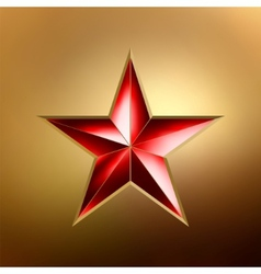 Red star vector