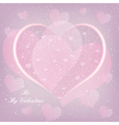 St valentine day heart shape greeting card vector