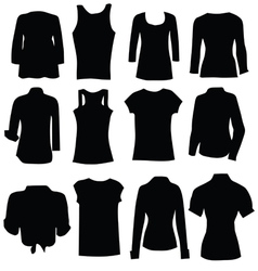 Clothing for women black art silhouette vector