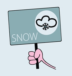 Panel for snow weather vector