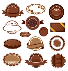 Set of chocolate badges and labels vector