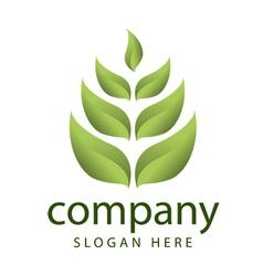Logo forest vegetation management vector